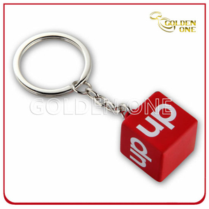 Custom Engraving Solid Cube Metal Key Holder