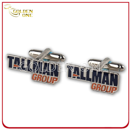 Personalized Metal Soft Enamel Nickel Plated Cuff Link