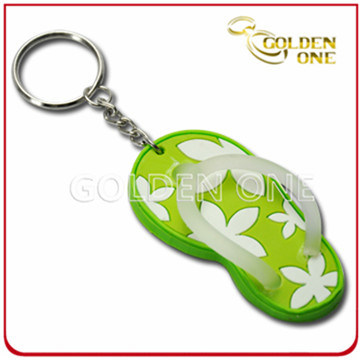 Fashionable 3D Logo Slipper Pattern Soft PVC Key Chain