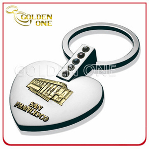 Custom 3D Relief Logo Souvenir Gift Metal Key Chain