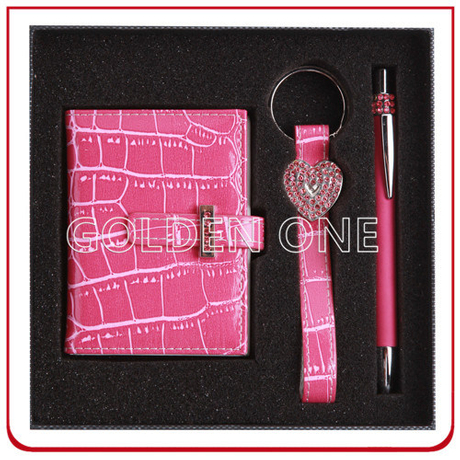 Custom Leather Key Holder and Wallet Gift Set