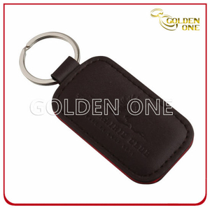 Promotional Customized Shaped Cheap PU Leather Key Fob