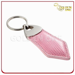 Good Quality Promotion Gift Pink Leather Key Chain