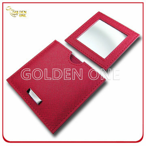 Promotion Gift Single Side PU Leather Pocket Mirror