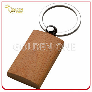 Fancy Design Normal Pattern Good Quality Wooden Keychain