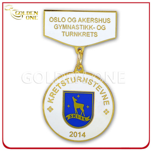 Factory Supply Custom 3D Embossed Sport Soft Enamel Metal Medal