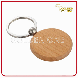 Promotion Good Quality Circle Shape Wooden Key Ring