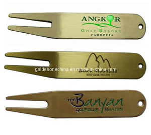 Customized Brass Plated Metal Golf Divot Tool (GP01)
