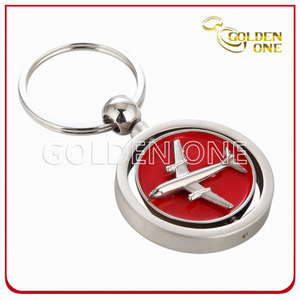 Novelty Design Spinning Air Plane Metal Key Chain
