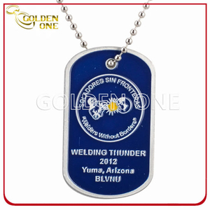 Customized Color Fill Stamped Aluminium Dog Tag