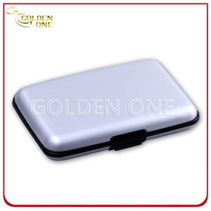 Factory Supply Anodized Sliver Finished Credit Card Case