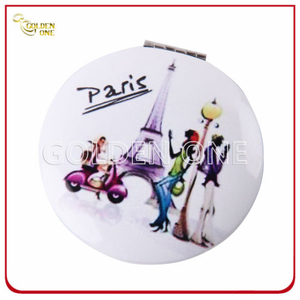 Superior Full Color Digital Printed Round Metal Compact Mirror