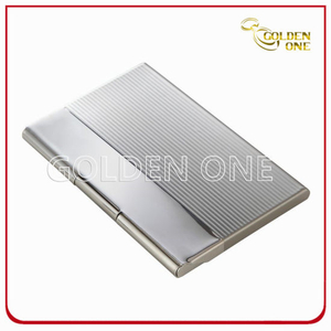 Briefcase Break Line Square Metal Business Card Case