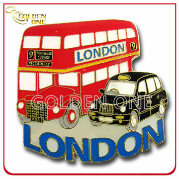 Custom London Bus Shape Souvenir Metal Fridge Magnet