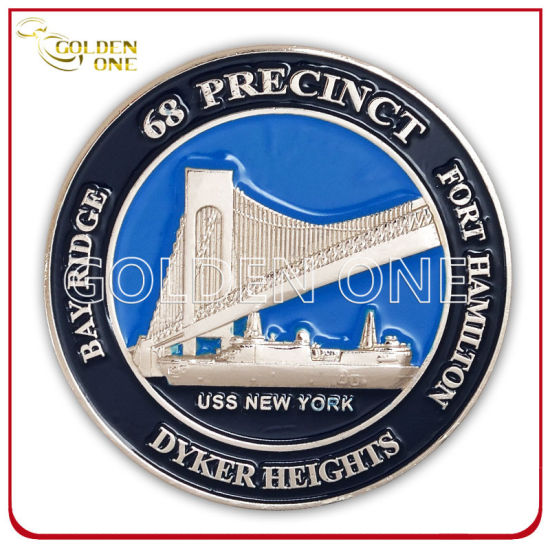 Custom Embossed Nickel Plated Souvenir Coin