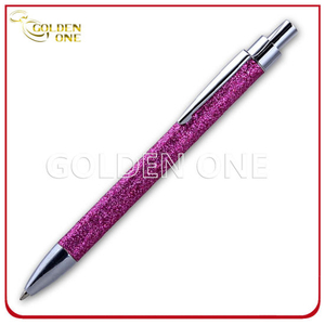 Customized Design Click Style Glitter Metal Ball Pen