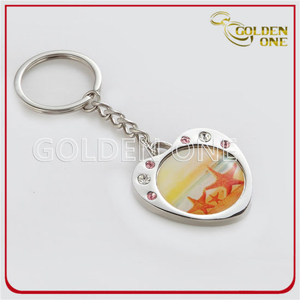 Custom Nickle Plated Cmyk Printing Metal Keyring