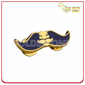 Personalized Style Mustache Shape Hard Enamel Pin Badge