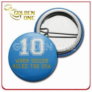Personalized Design Screen Printed Sport Metal Pin Badge