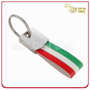 High Quality New Design 3 Colors Leather Keychain