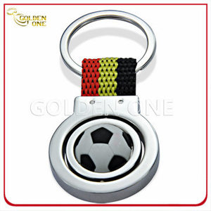 Personalized Football Theme Design Rotate Metal Key Chain