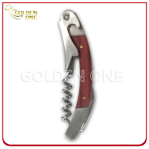 Promotion Gift Firm Wooden Handle Wine Corkscrew