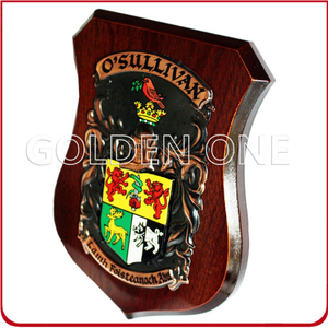 Hot Sales High Quality Wooden Plaque with Metal Badge
