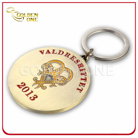 Nickel Plated Soft Enamel Metal Promotion Key Ring