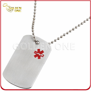 Fatory Supply Fancy Printed Anodized Aluminum Dog Tag
