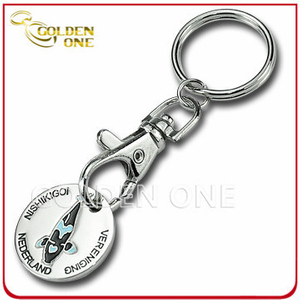Promotion Gift Iron Stamped Trolley Coin Key Holder