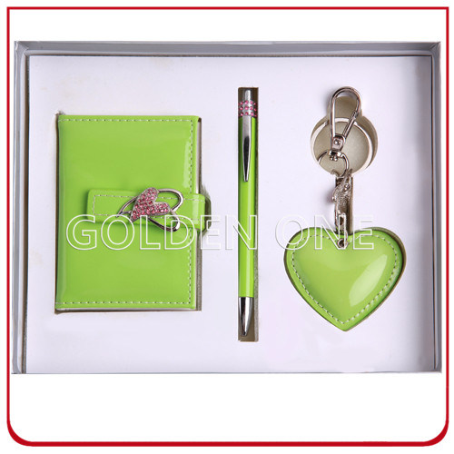 Shiny Card Holder and Metal Key Chain Gift Set
