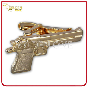 Novel Design Custom Gold Plated Metal Tie Clip