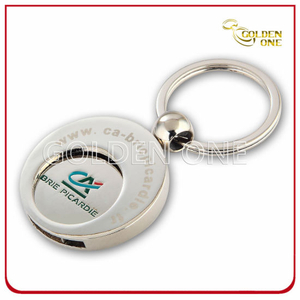 Customized Shopping Cart Metal Trolley Coin Holder Key Chain