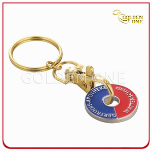 Metal Key Chain Trolley Token for Business Gift