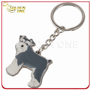 Custom Fancy Dog Shape Metal Key Chain