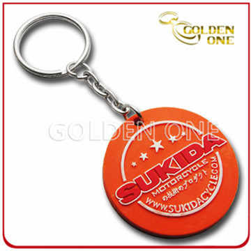 Custom High Quality Offset Printing Soft PVC Key Ring