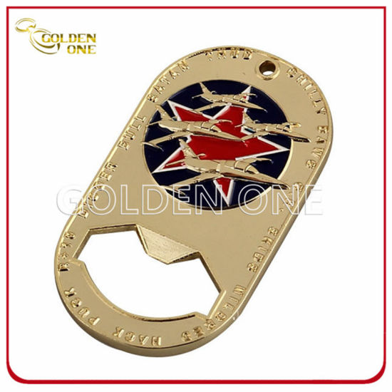 Air Force Military Gold Plated Metal Bottle Opener Coin