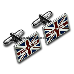 UK Flag Imitation Hard Enamel Metal Cuff Link