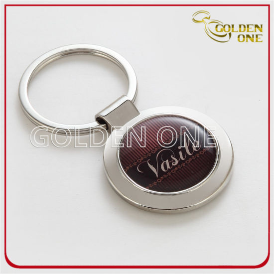 Metal Car Shape LED Light Leather Key Ring