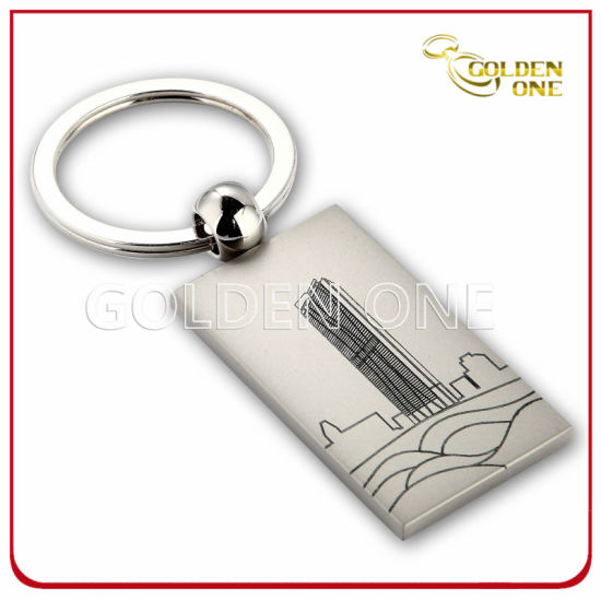 Hot Selling Silkscreen Printing Pearl Plated Metal Keychain