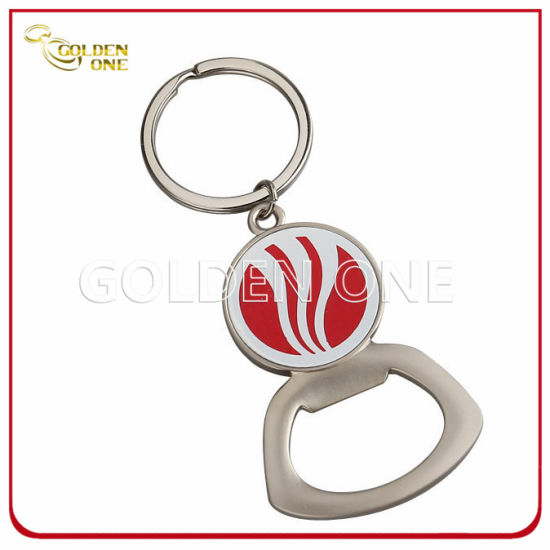 Creative Printed Epoxy Domed Logo Metal Bottle Opener Key Tag