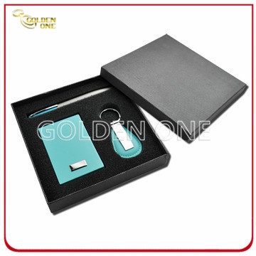 Promotional Metal Key Chain and Card Holder Gift Set