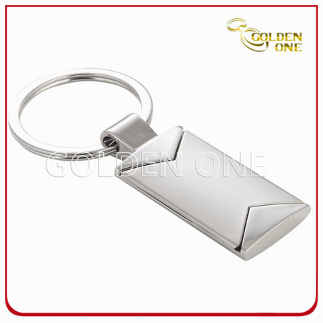 Fashion Design Two Tone Plated Metal Keychain