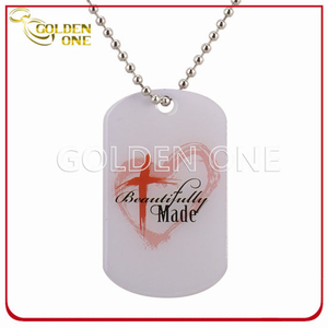 Personalized Design Printed Epoxy Coating Metal Dog Tag