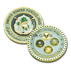 Custom Diamond Cut Foreign Military Souvenir Coin