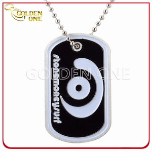 Personalized Color Fill Stainess Steel Dog Tag with Ball Chain
