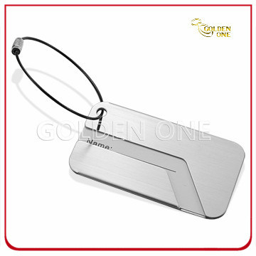 Promotion Gift Aluminum Aircraft Pattern Luggage Tag