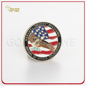Custom Soft Enamel Gold Metal Badge