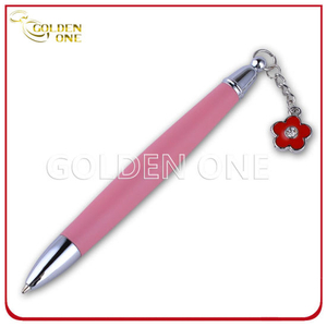 Hot Selling Ball Point Pen with Little Metal Flower