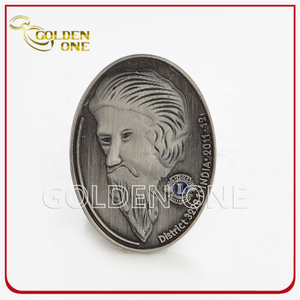 Best Selling Cheap 3D Antique Silver Metal Lapel Pin